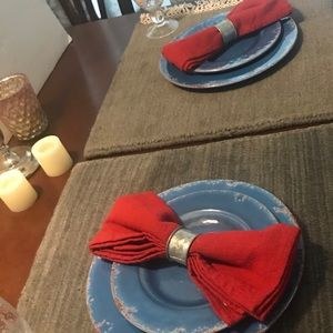 Pottery Barn Wool Dhurrie Place Setting (2) New